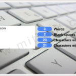 Count words and characters using jQuery