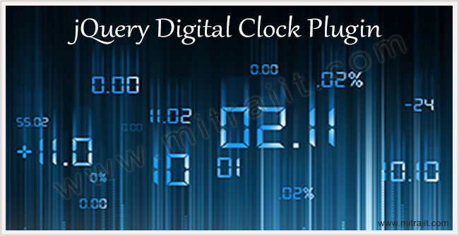 jQuery digital clock plugin