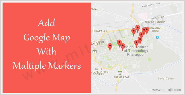 Add google map with multiple markers to your website