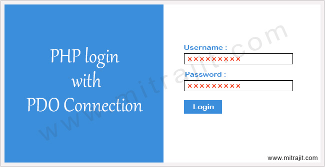 PHP login with PDO connection