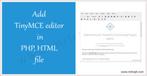 Add TinyMCE editor in PHP or HTML