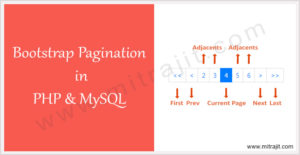 Bootstrap pagination in PHP and MySQL