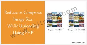 How to reduce or compress image size while uploading using PHP