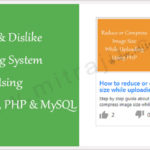 Like dislike rating system using jQuery, Ajax, PHP and MySQL