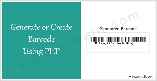 How to generate barcode using PHP