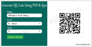 How to generate QR code using PHP and Ajax