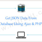 How to get data from database in JSON format using Ajax and PHP