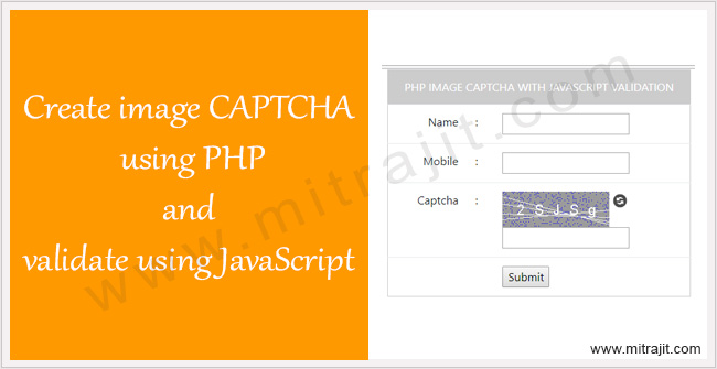 Create image CAPTCHA using PHP and validate using JavaScript