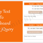 How to copy text to clipboard on a button click using jQuery