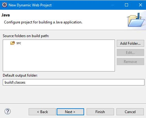 Necessary settings for creating dynamic web project in Eclipse IDE