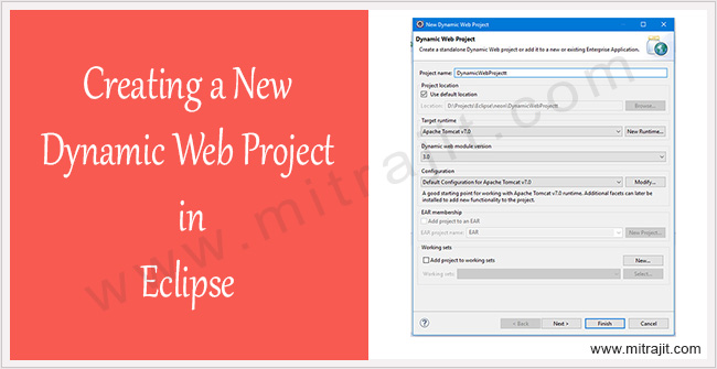 Creating a new dynamic web project in eclipse IDE