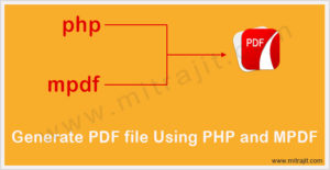 How to generate PDF file using PHP and MPDF