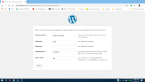 Database connection details during wordpress installation in wampserver