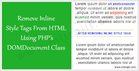 Remove style tags from HTML using PHP's DOMDocument class